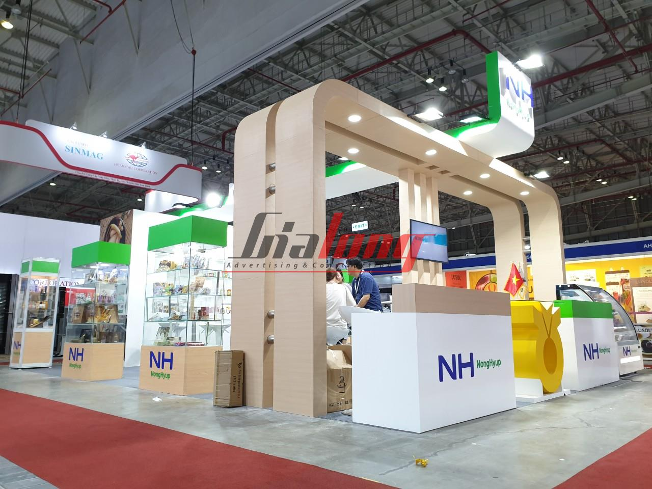 Construction of Food & Hotel exhibition booth 2019